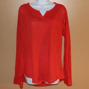 Orange Long Sleeve Top by Express